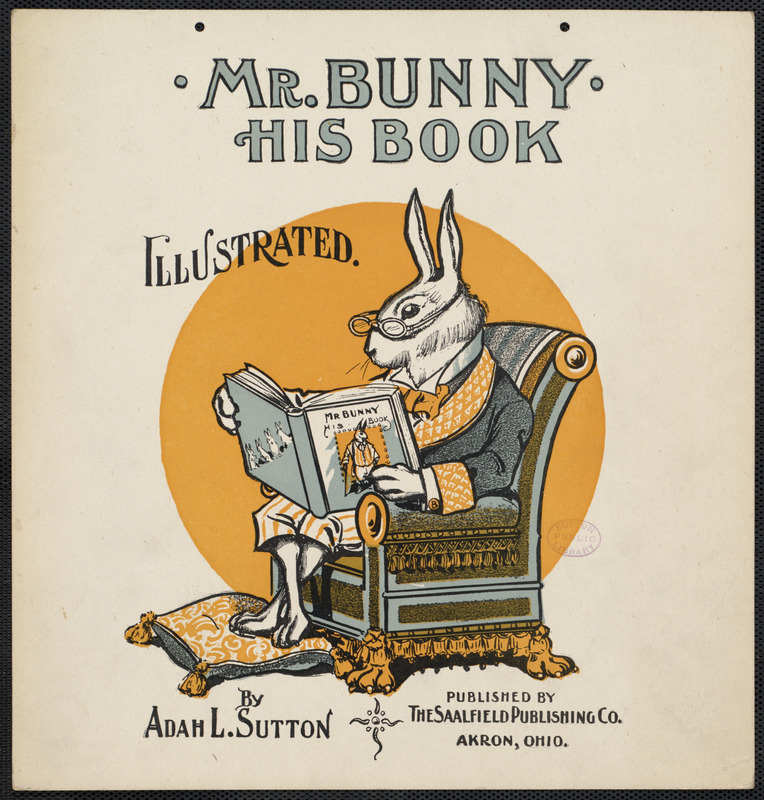 Mr Bunny, his book by Adam L. Sutton. Illustrated.