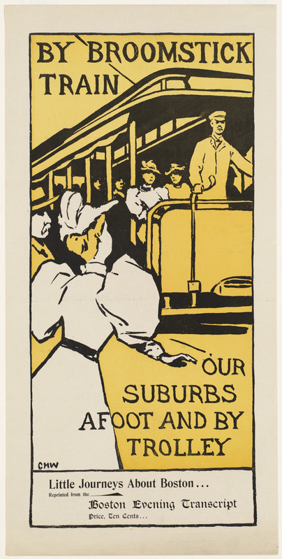 By broomstick train, our suburbs afoot and by trolley