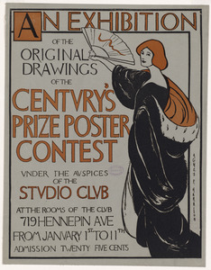 An exhibition of the original drawings of the Century's prize poster contest under the auspices of the Studio Club