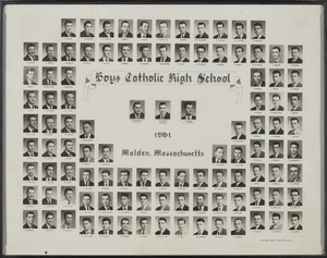 Boys Catholic High School, 1961, Malden, Massachusetts