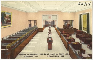 Interior of Georgia Railroad Bank & Trust Co., Augusta, Ga.