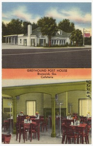 Greyhound Post House, Brunswick, Ga. Cafeteria