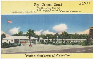 """The Crown Court, """"The Crown Tops Them All"""", U.S. 17 North of Brunswick, Ga."""
