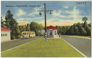 Entrance to Camp Gordon, Augusta, Ga.