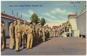 Chow line, Camp Gordon, Augusta, Ga.