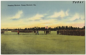 Passing review, Camp Stewart, Ga.