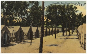 Brass hat row, Camp Stewart, Ga.