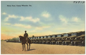 Motor pool, Camp Wheeler, Ga.