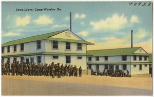 Town leave, Camp Wheeler, Ga.