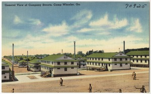 General view of company streets, Camp Wheeler, Ga.