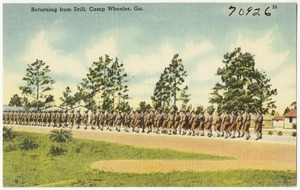 Returning from drill, Camp Wheeler, Ga.