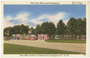 The Pines Motel and Restaurant, one mile south of Chatsworth, Georgia on U. S. 411