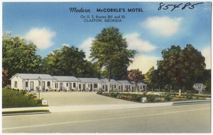 Modern McCorkle's Motel, on U. S. Route 301 and 25, Claxton, Georgia