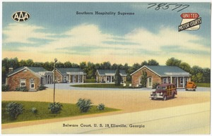 Belware Court, U. S. 19, Ellaville, Georgia, southern hospitality supreme