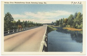 Bridge over Phinholloway Creek, entering Jesup, Ga.