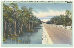 Pendleton Creek, typical scene along the highways in Georgia