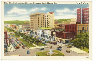Third Street intersection, showing Dempsey Hotel, Macon, Ga.