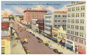 General view of downtown business section, Macon, Georgia