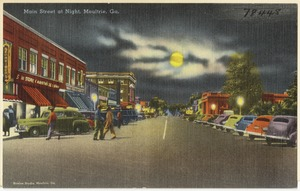 Main Street at night, Moultrie, Ga.