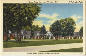 """Moss Oaks Lodge, Perry, Georgia -- """"Come Tarry Here and Welcome Be"""""""