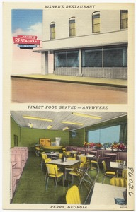 Risher's Restaurant, finest food served -- anywhere