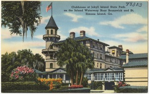 Clubhouse at Jekyll Island State Park, on the Inland Waterway near Brunswick and St. Simons Island, Ga.