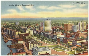 Aerial view of Savannah, Ga.
