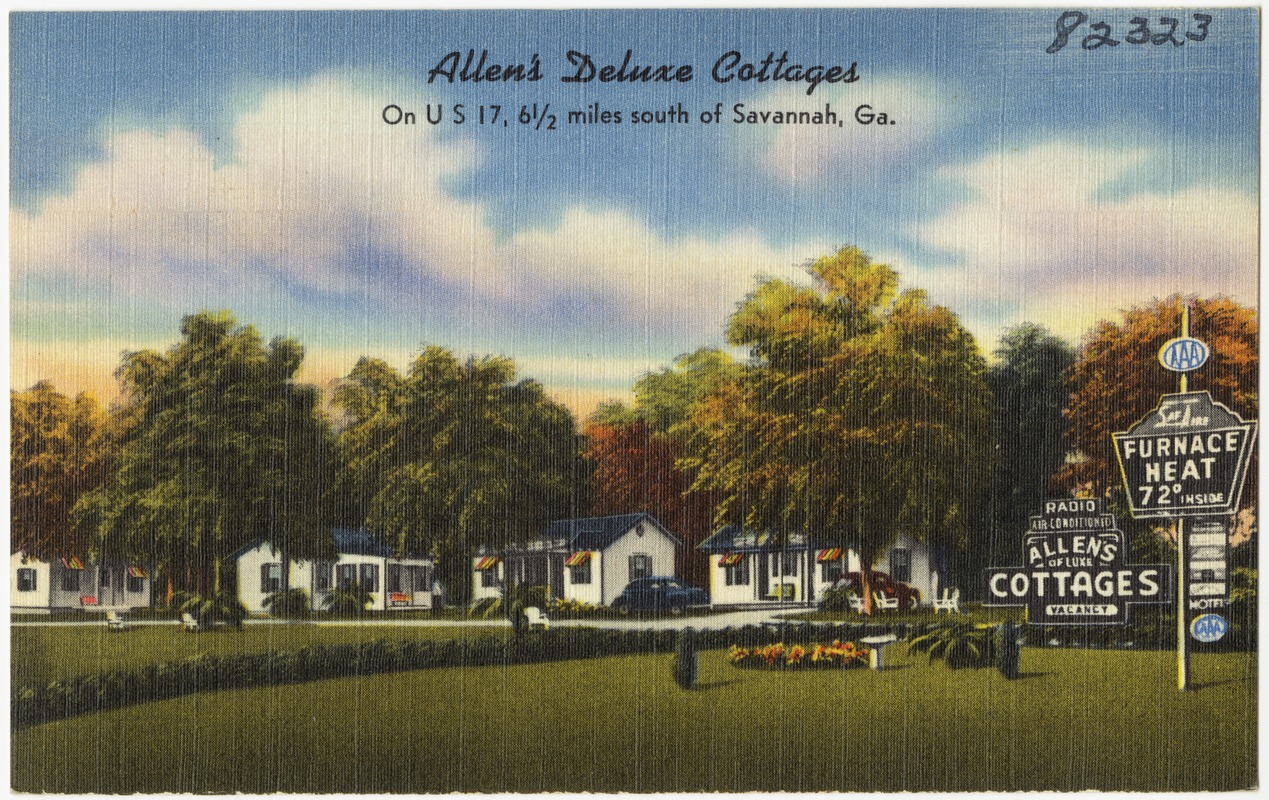 Allen's Deluxe Cottages on U. S. 17, 6 1/2 miles south of Savannah, Georgia