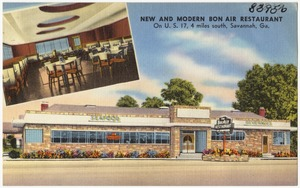 New and modern Bon Air Restaurant, on U. S. 17, 4 miles south, Savannah, Ga.