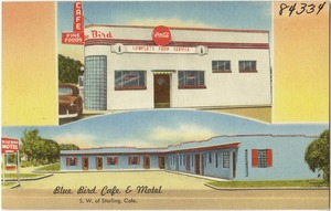 Blue Bird Cafe & Motel, s. w. of Sterling, Colo.