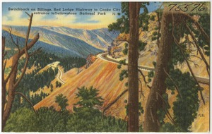 Switchbacks on Billings, Red Lodge Highway to Cooke City, entrance to Yellowstone National Park