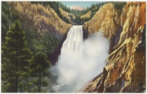 Great Falls and Canon of the Yellowstone in Yellowstone National Park.