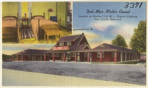 Del-Mar Motor Court, located on Route 13 & 40 -- Dupont Highway, New Castle, Delaware