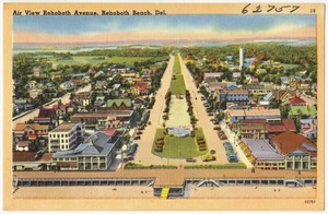 Air view Rehoboth Avenue, Rehoboth Beach, Del.