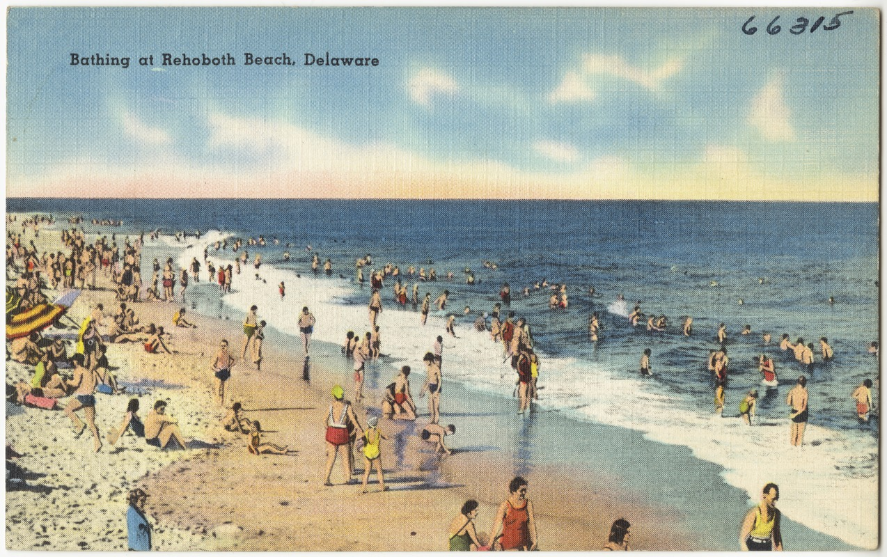 Bathing At Rehoboth Beach Delaware