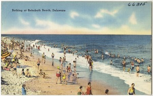 Bathing at Rehoboth Beach, Delaware