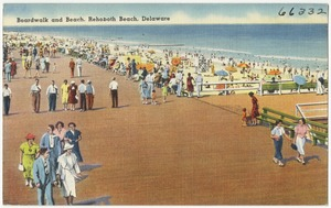Boardwalk and beach, Rehoboth Beach, Delaware