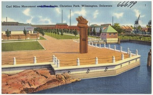 Carl Miles monument, Christina Park, Wilmington, Delaware