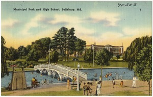 Municipal park and high school, Salisbury, Md.