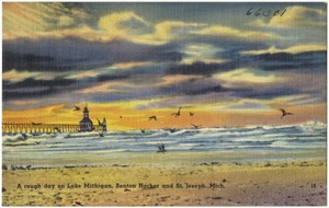 A rough day on Lake Michigan, Benton Harbor and St. Joseph, Mich.