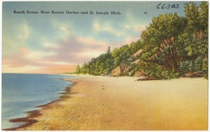 Beach scene, near Benton Harbor and St. Joseph, Mich.