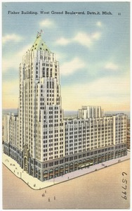 Fisher Building, West Grand Boulevard, Detroit, Mich.