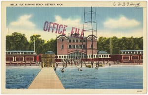 Belle Island Bathing Beach, Detroit, Mich.