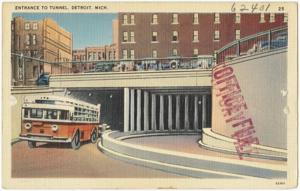 Entrance to tunnel, Detroit, Mich.