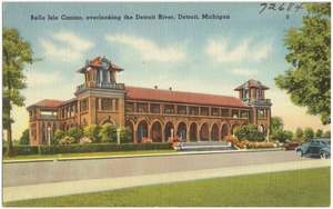 Belle Isle Casino, overlooking the Detroit River, Detroit, Michigan