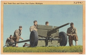 Anti tank gun and crew, Fort Custer, Michigan