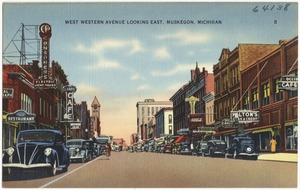 West Western Avenue looking east, Muskegon, Michigan