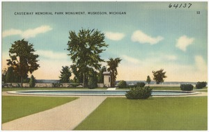 Causeway Memorial Park Monument, Muskegon, Michigan