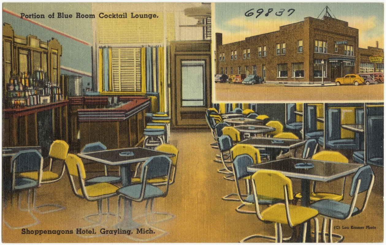 Portion Of Blue Room Tail Lodge Penagone Hotel Grayling Michigan