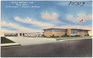 Doyle Freight Line home office, 172 Davenport -- Saginaw, Michigan